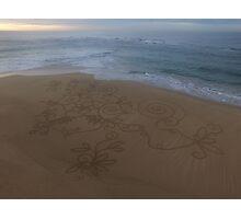 Sand Mandala Sunrise  Photographic Print