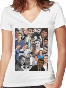 Dave Franco Collage Women's Fitted V-Neck T-Shirt