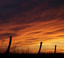 Unexpected Crimson Sunset by amandameans