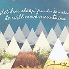 He Moves Mountains - Stars Horizontal by nannowandnext