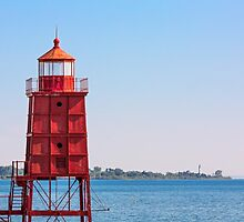 Two Wisconsin Lighthouses by Kenneth Keifer