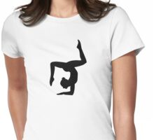 Yoga woman girl Womens Fitted T-Shirt