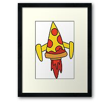 Pizza Spaceship Framed Print