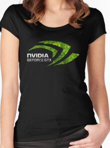 NVIDIA GEFORCE GTX Women's Fitted Scoop T-Shirt