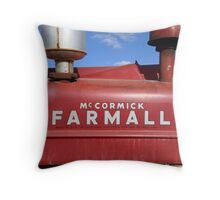Vintage Farmall Tractor Detail Throw Pillow