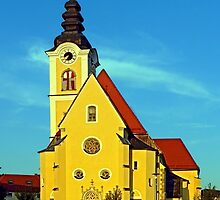 The village church of Sankt Marienkirchen   architectural photography by Patrick Jobst
