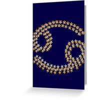 Cancer star sign Greeting Card
