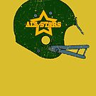 Vintage Look American Football Helmet All-Stars by VintageSpirit