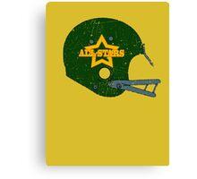 Vintage Look American Football Helmet All-Stars Canvas Print