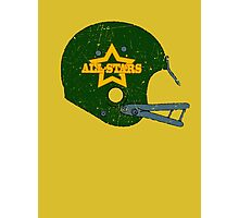 Vintage Look American Football Helmet All-Stars Photographic Print