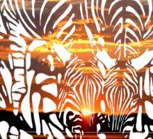 Zebras at Sunset Sticker