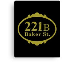 221B Baker Street copy Canvas Print