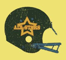 Vintage Look American Football Helmet All-Stars Kids Tee