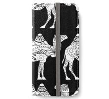 Camel pattern black iPhone Wallet/Case/Skin