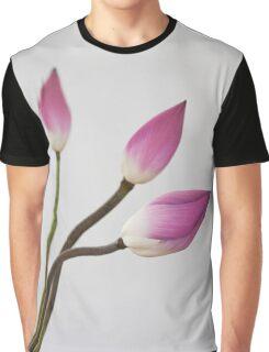 Minimalism pink lotus Graphic T-Shirt