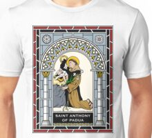 ST. ANTHONY OF PADUA under STAINED GLASS Unisex T-Shirt
