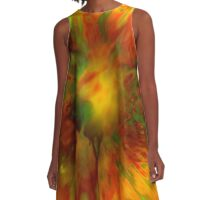 Citrus Splash A-Line Dress