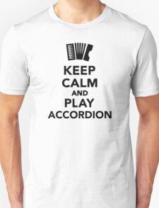 Keep calm and Play accordion T-Shirt