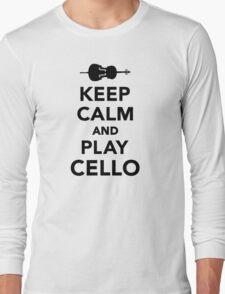 Keep calm and Play Cello Long Sleeve T-Shirt