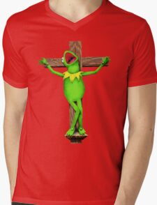 It's Not Easy Being Green Mens V-Neck T-Shirt