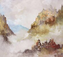 """Artwork 1435 """"Mountain Mists"""" by Paul Chambers"""