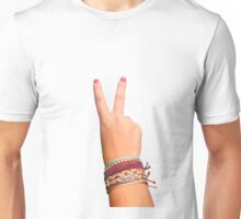 Peace Sign Hand Unisex T-Shirt