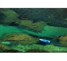 Little blue boat - Kalymnos island Photographic Print