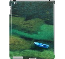 Little blue boat - Kalymnos island iPad Case/Skin