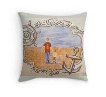 sail the sea  Throw Pillow