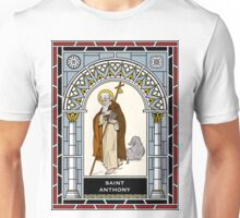 ST. ANTHONY, PATRIARCH OF MONKS under STAINED GLASS Unisex T-Shirt