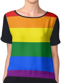 Gay Pride Flag / Rainbow Chiffon Top