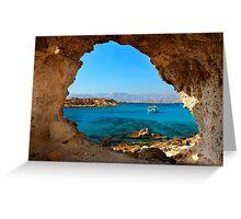 Window to the Libyan Sea Greeting Card