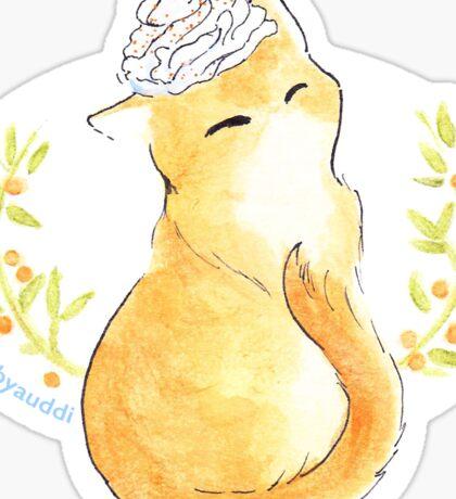 Pumpkin Spice Catte Sticker