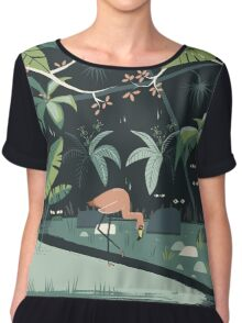 Nightshade Jungle Chiffon Top