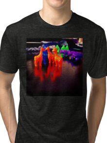 A Giraffe Discussion Tri-blend T-Shirt