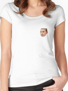 Alyssa Edwards Beauty Mask Pattern Women's Fitted Scoop T-Shirt