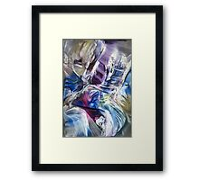 Surrounding spiral particles Framed Print