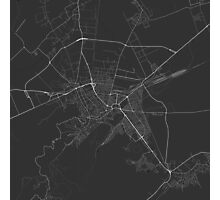 Brasov, Romania Map. (White on black) Photographic Print