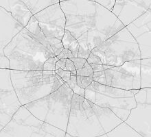 Bucharest, Romania Map. (Black on white) by Graphical-Maps
