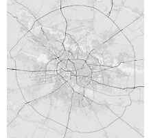 Bucharest, Romania Map. (Black on white) Photographic Print