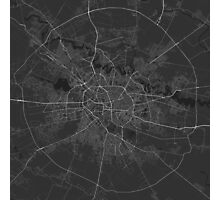 Bucharest, Romania Map. (White on black) Photographic Print