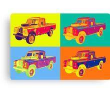1971 Land Rover Pick up Truck Pop Art Canvas Print