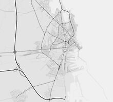 Constanta, Romania Map. (Black on white) by Graphical-Maps