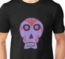 Day of the Dead in Purple Unisex T-Shirt