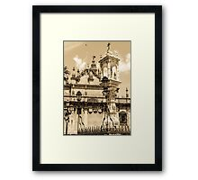 Seville - Detail from Plaza del Triunfo Framed Print