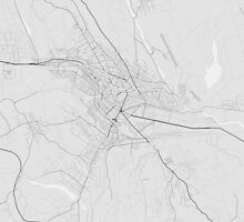 Lasi, Romania Map. (Black on white) by Graphical-Maps