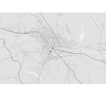 Lasi, Romania Map. (Black on white) Photographic Print