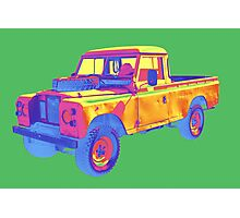 1971 Land Rover Pick up Truck Pop Art Photographic Print