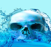 SKULL IN WATER by Icarusismart