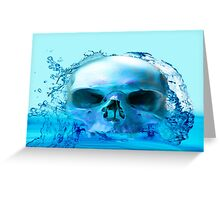 SKULL IN WATER Greeting Card
